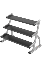 Life Fitness Axiom Series 3 Tier Hex Dumbbell Rack